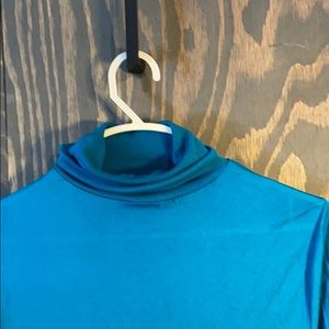 Wintersilks teal turtleneck under garment 100%silk